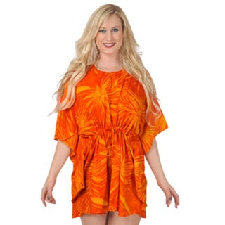 La Leela Self Printed Beach Cover-up Kaftan