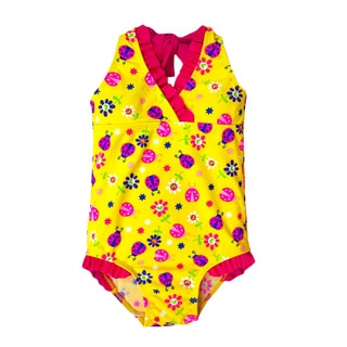 Jump'N Splash Girl's Yellow Ladybug Halter One Piece