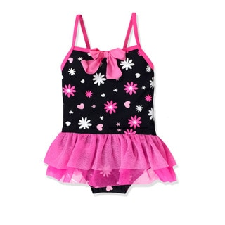 Jump'N Splash Girl's Flower Burst Tutu One Piece Swimsuit