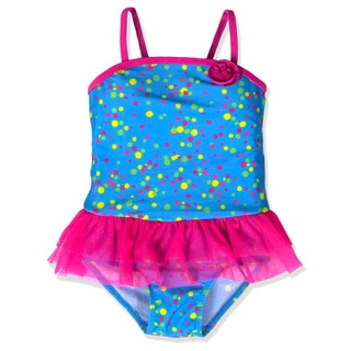 Jump'N Splash Girl's Blue Confetti Tutu One Piece Swimsuit