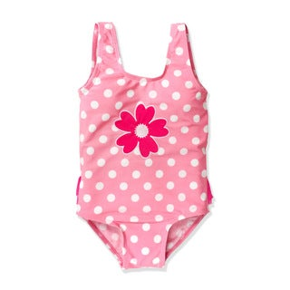 Jump'N Splash Small Girls Pink Polka Dot One Piece