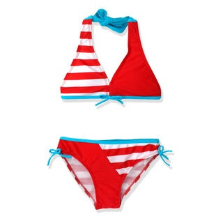 Jump'N Splash Girl's Nautical Stripe Bikini Swimsuit