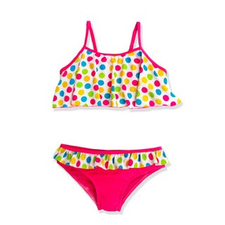 Jump'N Splash Girl's Multicolor Polka Dot Bikini Swimsuit