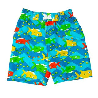 Jump'N Splash Boy's Mini Shark Swim Trunks