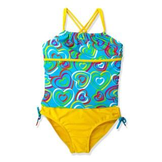 Jump'N Splash Girl's Turquoise Heart Tankini Swimsuit