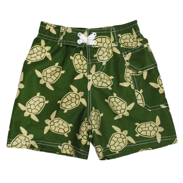 Jump'N Splash Boy's Green Turtle Swim Trunks