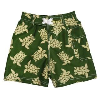 Jump'N Splash Boy's Green Turtle Swim Trunks