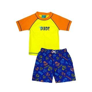 Jump'N Splash Boy's Dude' Rash Guard Set