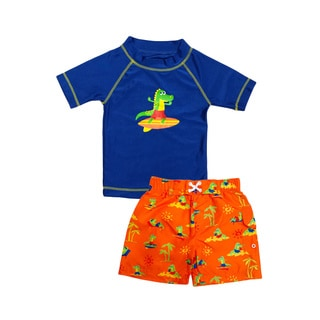 Jump'N Splash Boy's Surfin' Dino Rash Guard Set