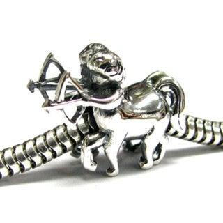 Queenberry Sterling Silver Sagittarius Zodiac European Bead Charm