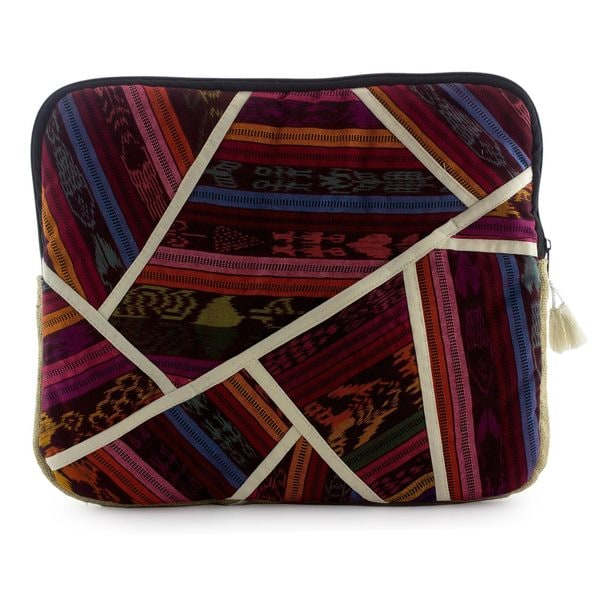 Handcrafted Cotton Jute 'Cahabon' Laptop Case (Guatemala)