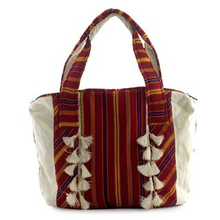 Handcrafted Cotton 'Poptun' Tote Bag (Guatemala)