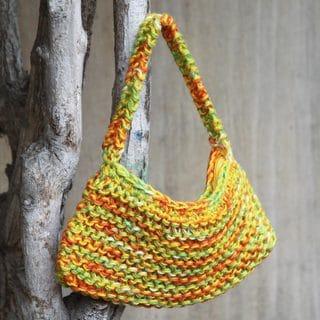 Handcrafted Jute 'Andean Sun' Handbag (Peru)