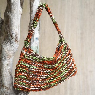 Handcrafted Jute 'Orange Grove' Handbag (Peru)
