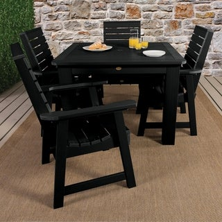Highwood Marine-grade Synthetic Wood Weatherly 5 piece square (42x42) dining set