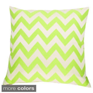 Chevron Chic Feather and Down Filled Decorative Throw Pillow