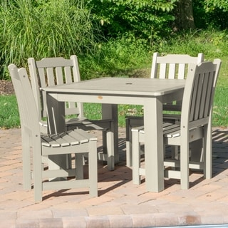 Highwood Marine-grade Synthetic Wood Lehigh 5-piece square (42x42) Dining Set