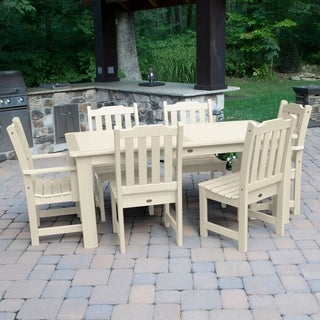 Highwood Marine-grade Synthetic Wood Lehigh 7-piece Rectangular Dining Set