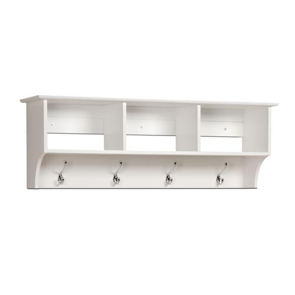 Winslow White Hanging Entryway Shelf 17220945