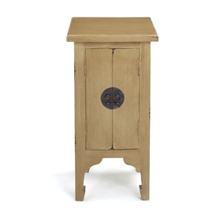 Decorative Dillard Casual Tan Square Accent Table