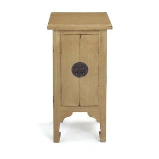 Decorative Dillard Casual Tan Square Accent Table