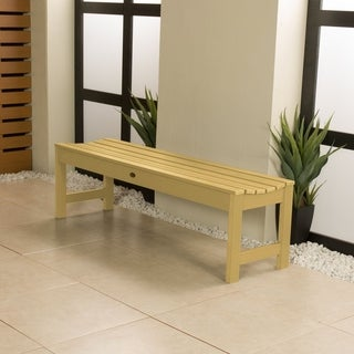 HighWood Marine-grade Synthetic Wood 4-foot Weatherly Backless Bench (Eco-friendly)