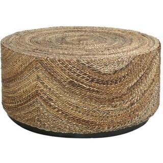 Decorative Elkton Natural Tan Round Coffee Table