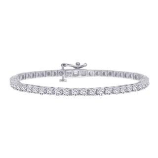 14k White Gold 5ct TDW Diamond Line Bracelet (G-H, I1-I2)