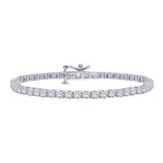 14k White Gold 3ct TDW Diamond Line Bracelet (G-H, I1-I2)