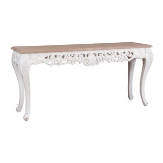 Decorative Brooks Casual White Rectangle Console Table