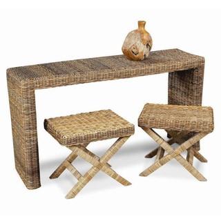 Decorative Enterprise Casual Tan Rectangle Console Table