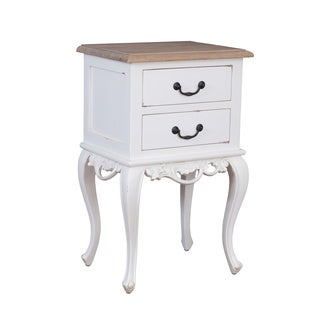 Decorative Franklin Rustic Off-White Square Accent Table