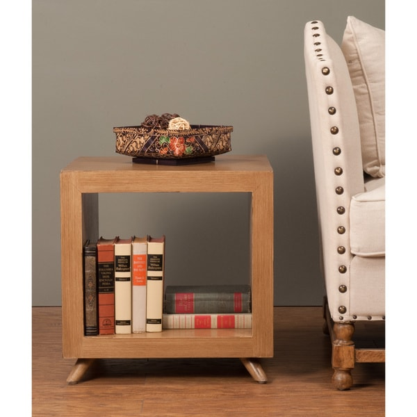 Decorative Merlin Casual Tan Square Accent Table