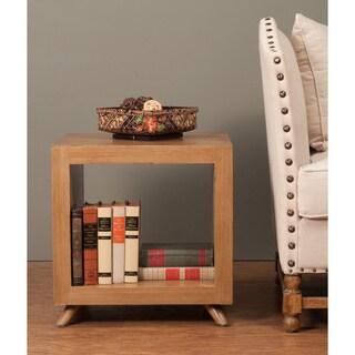 Decorative Merlin Casual Tan Square Cube Accent Table