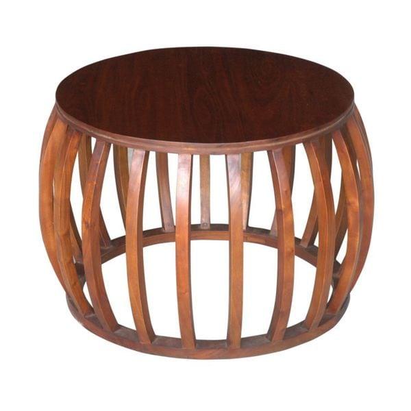 Decorative Dawson Casual Brown Round Accent Table