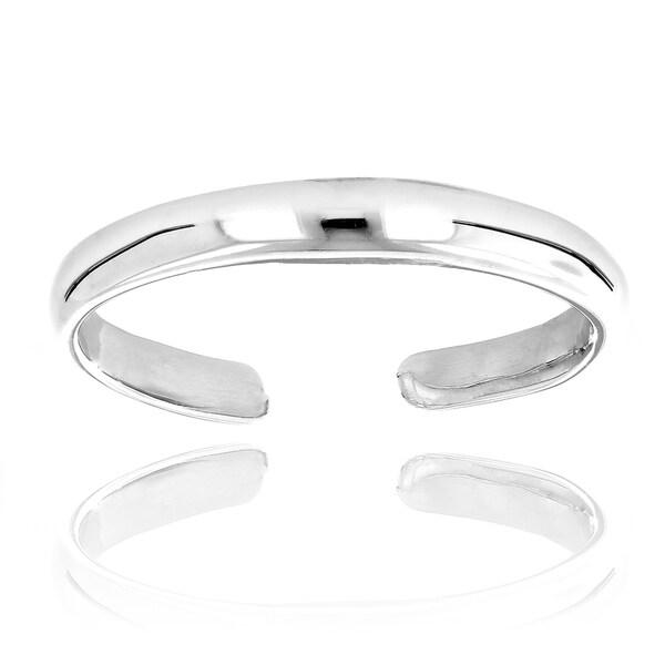 Luxurman 14k Gold Thin Adjustable Toe Ring