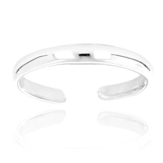 Luxurman 14k White Gold Thin Adjustable Toe Ring