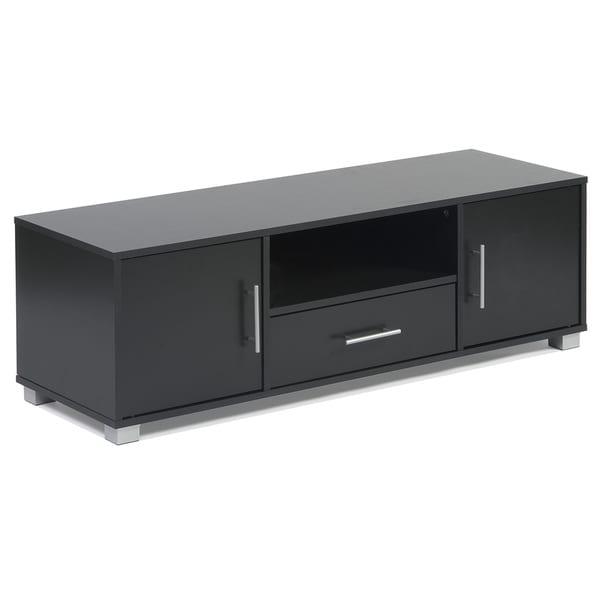 Sorento Black 2-door 1-drawer Entertainment Cabinet