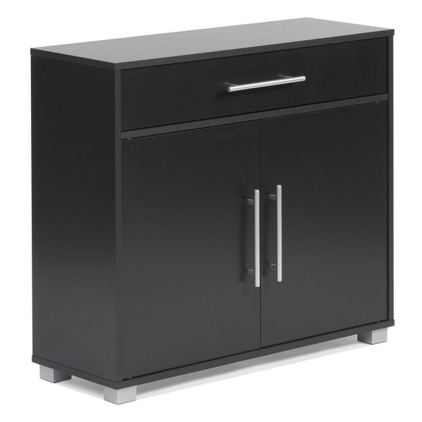 Sorento 2-door Black Sideboard with Drawer