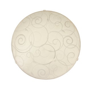 Simple Designs Round Flushmount Ceiling Light with Scroll Swirl Design