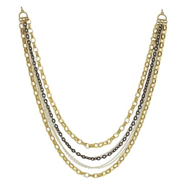 Alexa Starr Tri-tone Multi-chain Necklace