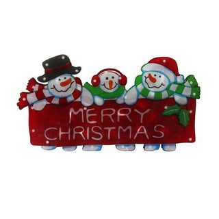9-inch Lighted Hanging Snowman Family