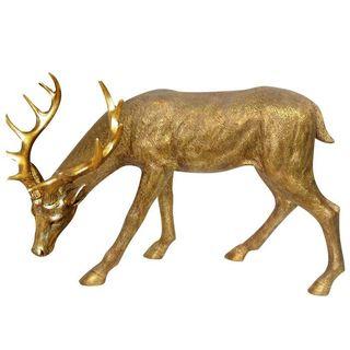 28-inch Grazing Deer Statue