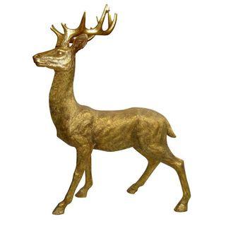 50-inch Standing Deer Statue
