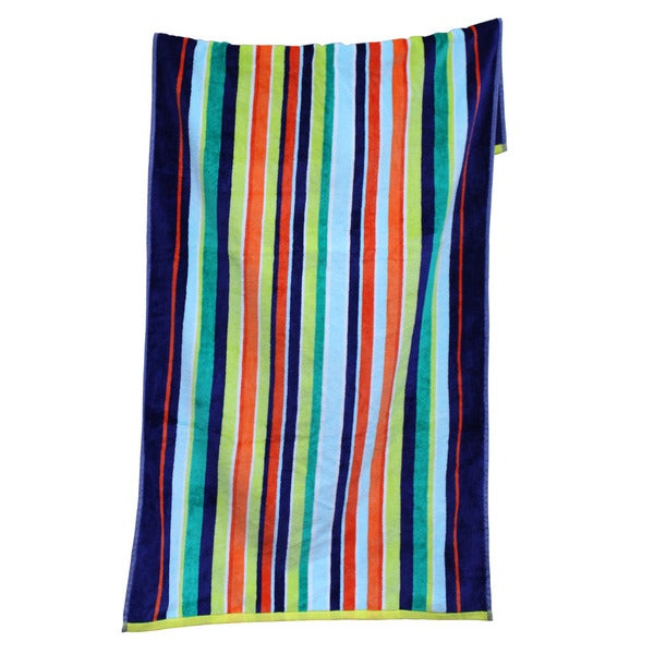 100-percent Cotton Yarn Dyed Reef Beach Towels