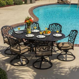 Lakeview Outdoor Designs Rosedown 6-person Cast Aluminum Patio Dining Set with Cast Aluminum Table