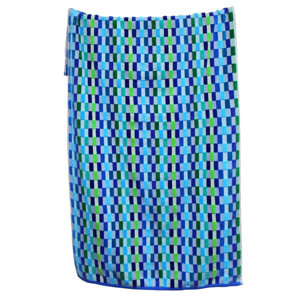 100-percent Cotton Yarn Dyed Oversized Mosaic Beach Towels