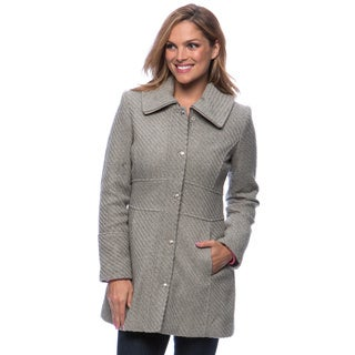Jessica Simpson Women's Singlebreasted Braided Wool Coat