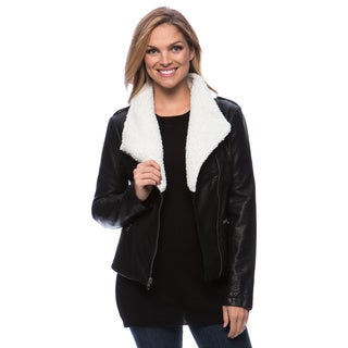Jessica Simpson Women's Faux Leather Moto Jacket