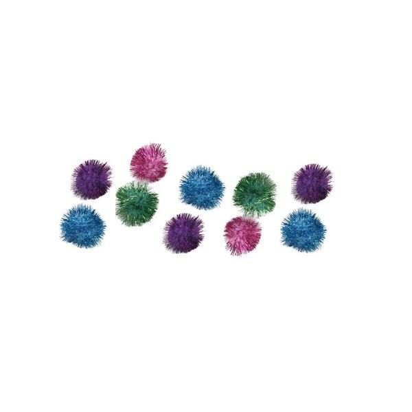 Coastal Rascals 10 Pack 1. 25-inch Glitter Pom Pom